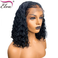 Elva Hair 13x6 Lace Front Human Hair Wigs For Black Women Curly Lace Wig Pre Plucked Hairline With Baby Hair Brazilian Remy Hair