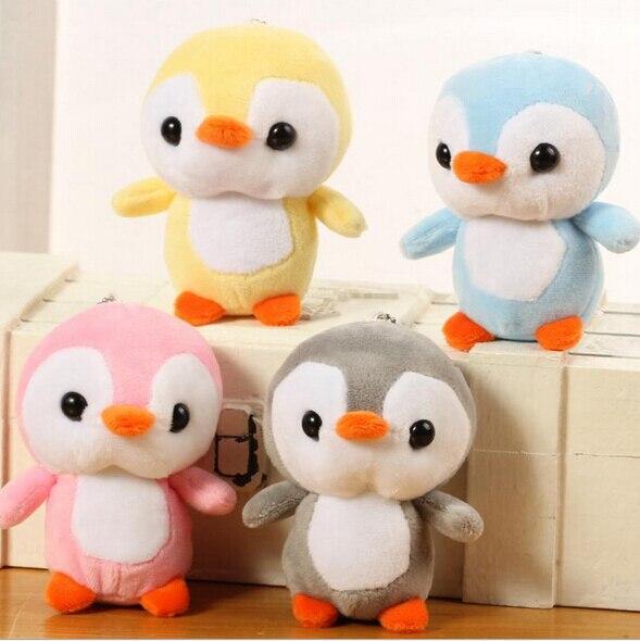 4 estilos 10 CENTÍMETROS Animais Pinguim Chaveiro Bonecas de Pelúcia Brinquedos De Pelúcia Pequeno Pingente de Bonecas para as crianças presentes