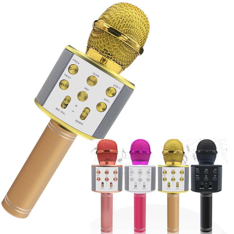 Профессиональный Bluetooth беспроводной микрофон динамик ручной микрофон караоке микрофон музыкальный плеер пение рекордер KTV