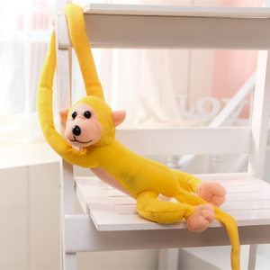 Image 3 - 1 pcs 70CM Hanging Long Arm Monkey from arm to tail Plush Baby Toys colorful Doll Kids Gift