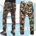 Camoflage militar Malha Jogging Sweatpants skinny harem pants gota gancho esporte macacão calças cintura elástica calças de ganga para homem