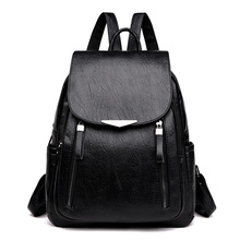 New 2019 Women PU Leather Backpacks Vintage Shoulder Bag Winter Female Backpack Ladies Travel Mochila School Bags For Girl