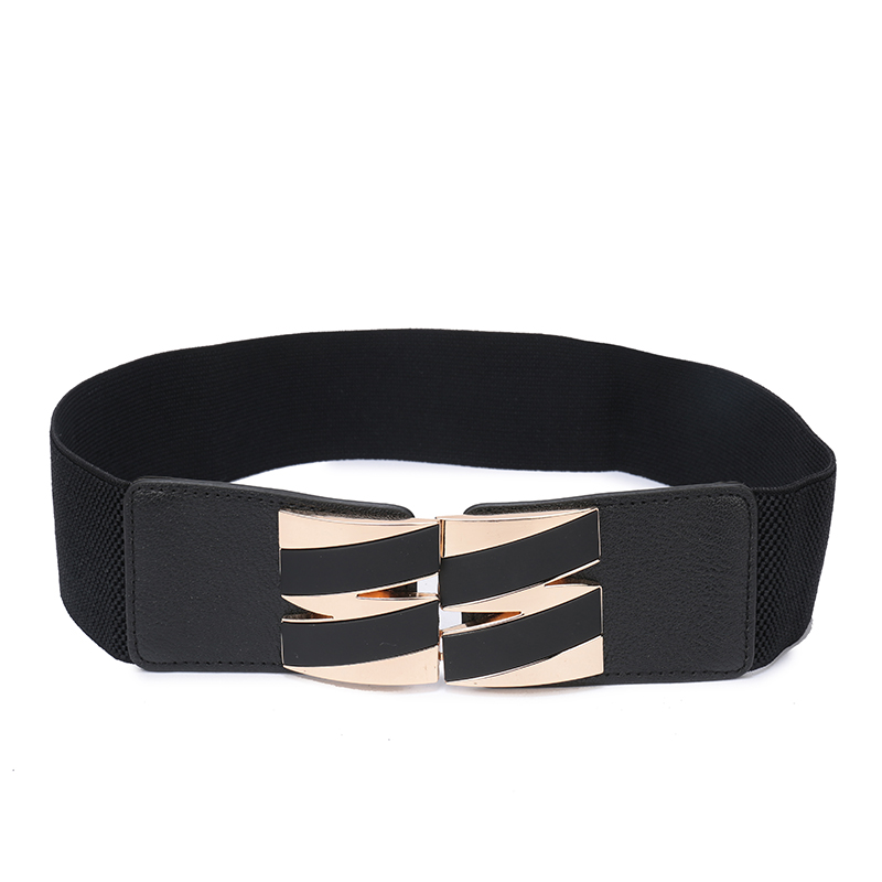 Leather Elastic Wide Belt For Women Stretch Thick Waist Belt For Dress Adornment For Women Waistband