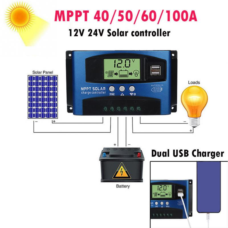 Home Protect Battery Equipment Regulator Solar Controllers Charge Panel LCD Display Tracking Automatic  MPPTHome Protect Battery Equipment Regulator Solar Controllers Charge Panel LCD Display Tracking Automatic  MPPT