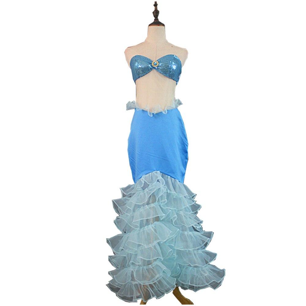 2017 The Little Mermaid Ariel Cosplay Costume Mermaid Dress