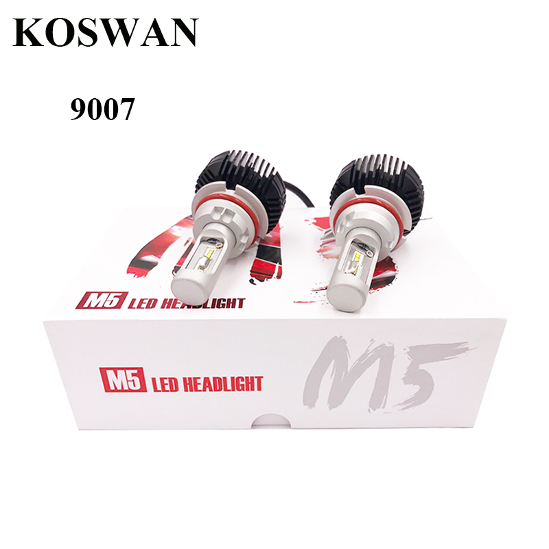 ФОТО Plug & Play LED Headlight Bulb 9007 Hi/Lo LED Headlamp Bulb 9007 5600LM 32W 6000K White High Power LED Headlamp Bulb 9007 M5
