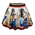 2016 del verano nuevas mujeres 3D falda mujeres romanas / mapa / laberinto / Mural egipcio de cintura alta faldas cortas del partido del envío gratis