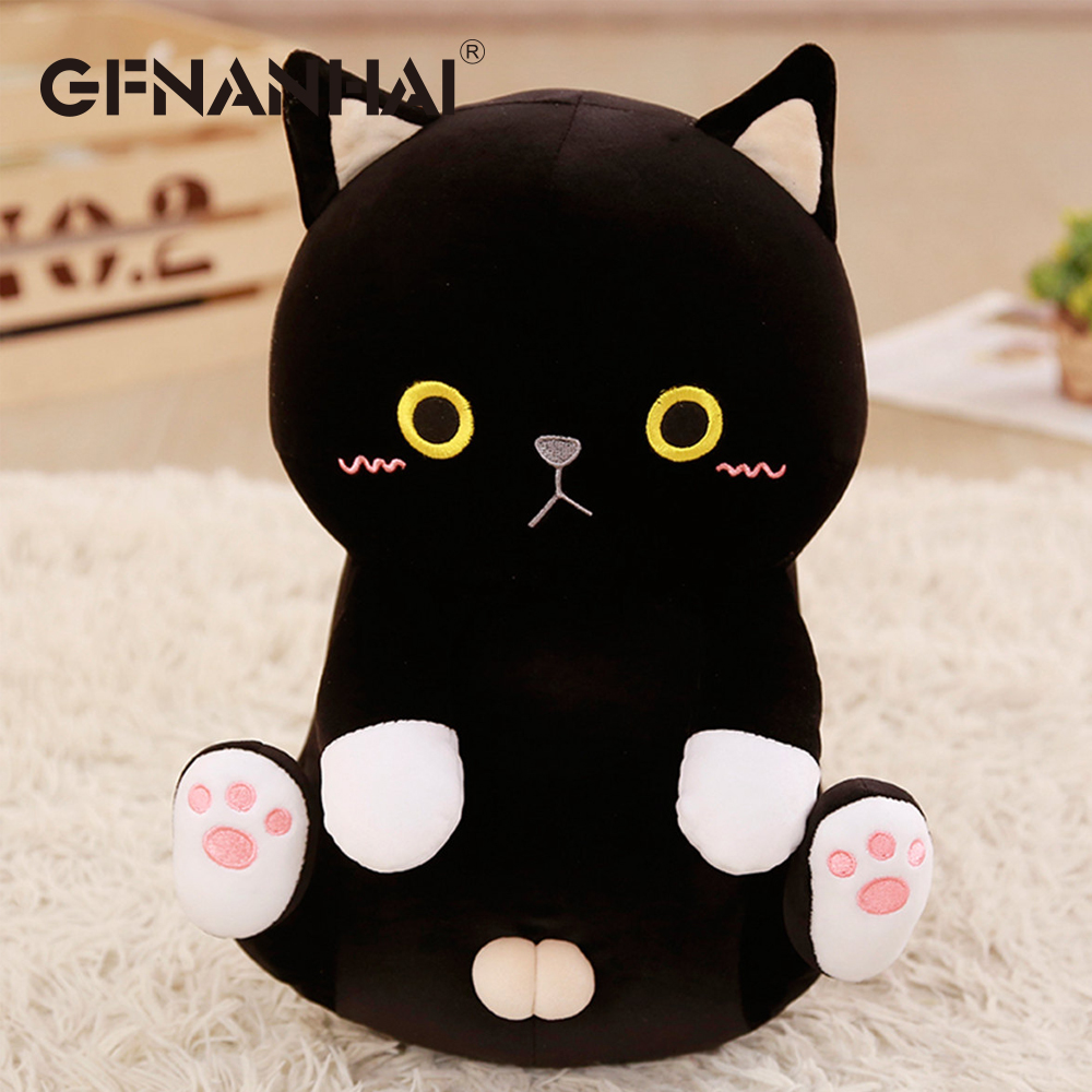 1pc 35cm kawaii Kitten plush toy stuffed software cute animal cat plush pillow baby cartoon dolls birthday gift for girls
