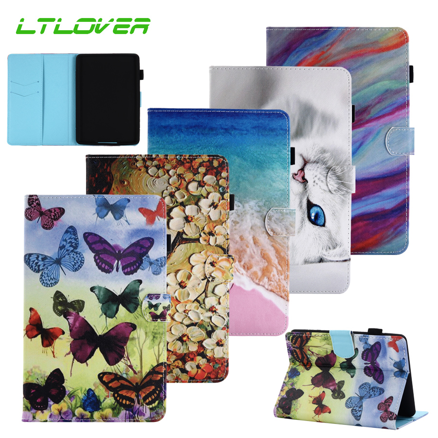 New Smart Butterfly Flower Stand Leather Cover For Amazon Kindle Paperwhite 1 2 3 6.0 inch Tablet Case For Kindle Paperwhite 123 japan tokyo boy girl magnet pu flip cover for amazon kindle paperwhite 1 2 3 449 558 case 6 inch ebook tablet case leather case