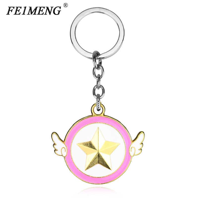 Классический Аниме Сейлор брелок луна Лаки Сладкая Луна розовая пятиконечная звезда брелок модный кулон брелок для женщин Подарки
