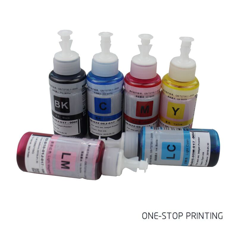 6Pcs 70ml Refill <font><b>printer</b></font> ink for <font><b>Epson</b></font> L100 <font><b>L200</b></font> L211 L301 L303 L351 L358 L551 L558 L355 all L series <font><b>printer</b></font> ink cartridge image