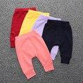 La primavera y el otoño bebé sólido secciones PP pantalones pantalones pantalones Haren bebé niño pan