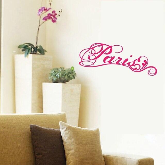 Paris Fancy Elegant Wall Decal ,Vinyl wall stickers lettering word