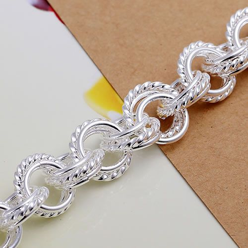 H023 Fine silver plated wholesale jewelrys,Hot sale Factory price charm free shipping 925 fashion Triple Bracelet /acpaitwa 8