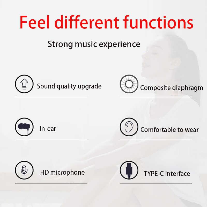 Oryginalny TYPE-C potrójne kierowcy słuchawki douszne słuchawka z mikrofonem dla Xiao mi mi 8 6 Samsung słuchawki słuchawki douszne E1001