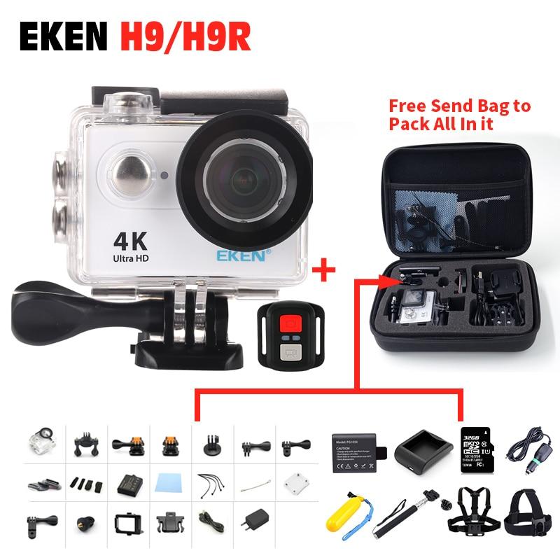 100% Original EKEN H9R remote control camera 4K wifi Ultra HD 1080p 60fps 170D waterproof Action camera sports mini cam