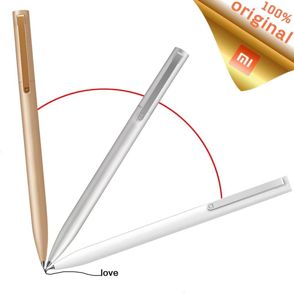 Xiaomi mijia, canetas originais sign 9.5mm remec, recarga suave suíça, refil azul, canetas de assinatura, tinta mikuni japonesa mi canetas,
