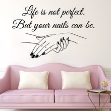 YOYOYU Nail Salon Removeable Art Vinyl Wall Sticker Manicure Quote Bedroom Window Home Decoration Poster ZX499