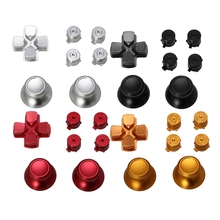 New 2019 Metal Dpad Thumbstick Cap Bullet Buttons For Sony PS4 DualShock 4 Controller Kit-Y1QA
