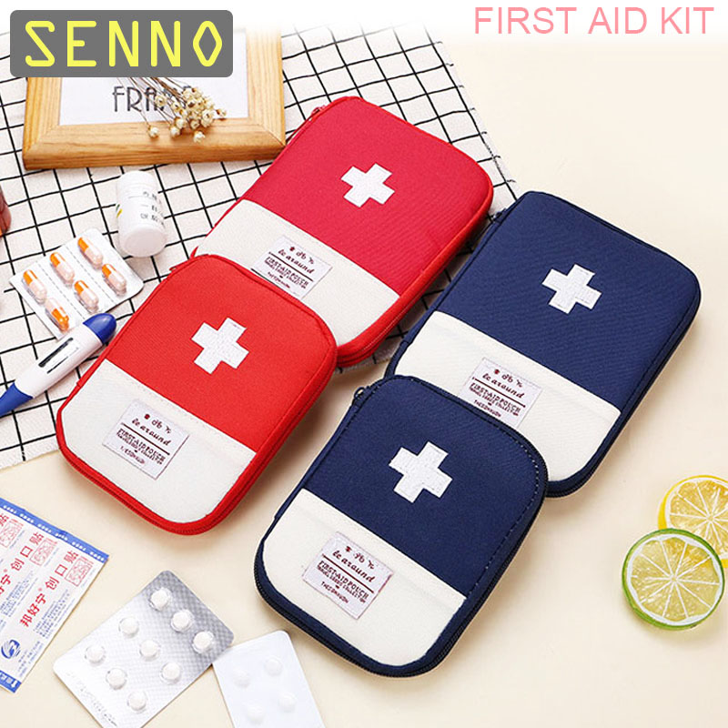 Portable First Aid Kit Empty Bag Mini Bug Out Bag Molle Water Resistant For Hiking Travel Home Car Emergency Treatment
