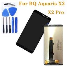 Para bq aquaris x2 display lcd de tela toque digitador componentes para bq aquaris x2 pro tela vidro componentes