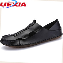 New Summer Shoes Men Casual Breathable Design Light Loafers Breathable Men's Shoes Casual Soft Leather Driving Zapato For Male
