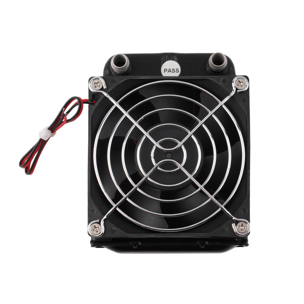 все цены на  Aluminum 80mm Water Cooling Cooled Row Heat Exchanger Radiator + Fan for CPU PC Eletronic Hot  онлайн
