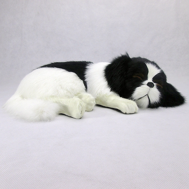 simulation cute sleeping dog 35x25x9cm model polyethylene&furs dog model home decoration props ,model gift d496 super cute plush toy dog doll as a christmas gift for children s home decoration 20