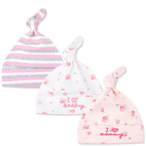 Beanie 3pcs lot Knot Baby Hats 100% Cotton Printed Lovely Soft Baby  Hats Caps for 0-6 Months Toddlers Newborn Baby Accessories 977b3adf7f67