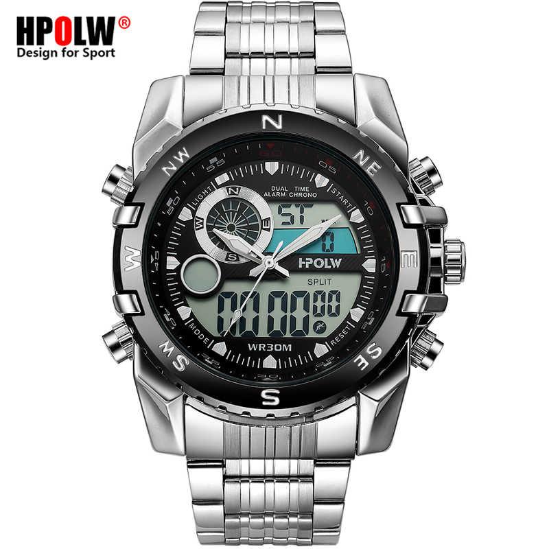 Элитный бренд для мужчин Военная Униформа спортивные часы для светодио дный  Мужчин Кварцевые LED Chronos аналоговые 17b52f07b5660