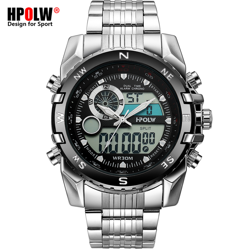 Luxury Brand Men Military Sport Watches Men's Quartz LED Chronos Analog Clock Male Digital Wrist Watch Relogio Masculino s925 sterling silver pendant jewelry beeswax blossoming shaolan craft female gift new