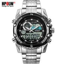 Элитный бренд Для мужчин Военные Спортивные часы Для мужчин кварцевые светодиодный Chronos аналоговые часы мужские наручные часы Relogio Masculino