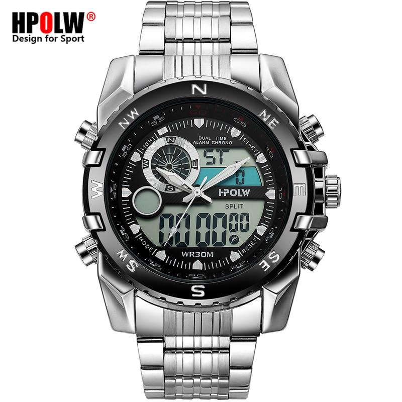 Luxus Marke Männer Military Sport Uhren herren Quarz LED Chronos Analog Uhr Männliche Digital Armbanduhr Relogio Masculino