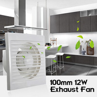 12W Mini Wall Window ABS Plastic Exhaust Fan Fan Hole Size 100mm X 100mm Waterproof For