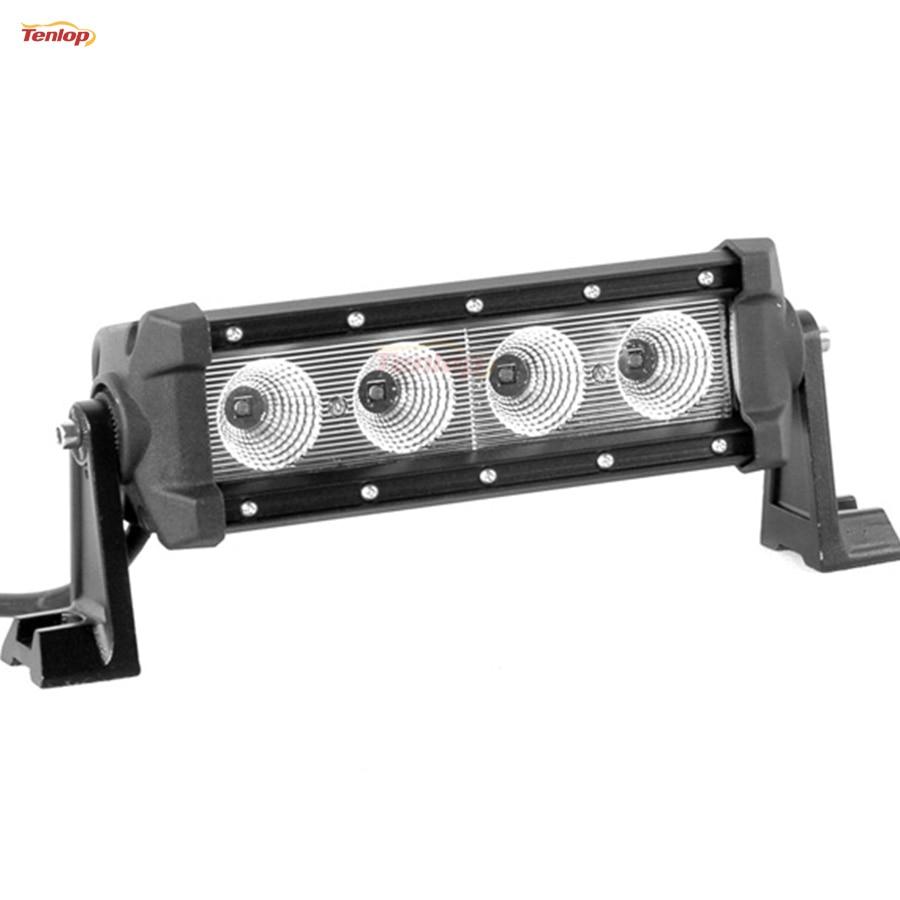 Hot Sale 9 Inch 40W Single Row  LED Light Bar For Offroad Wrangler 4*4 SUV ATV 12V 24V hot sale 9 inch 40w single row led light bar for offroad wrangler 4 4 suv atv 12v 24v
