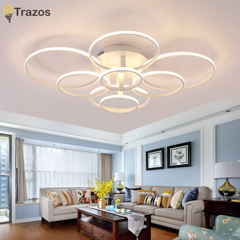 New Style Acrylic Ceiling Lamp Creative Art circular LED Ceiling Lights for Dinning Room Living Room Bedroom Indoor Lighting new led wall light creative footprint dimming lamp for bedroom dining room lamp acrylic circular sitting room lighting