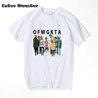 Banda de música de Odd Future OFWGKTA Camiseta Historieta de La Manera Impresa Gol f WANG Tes de Los Hombres de Hip Hop de Manga Corta T-shirt 3XL
