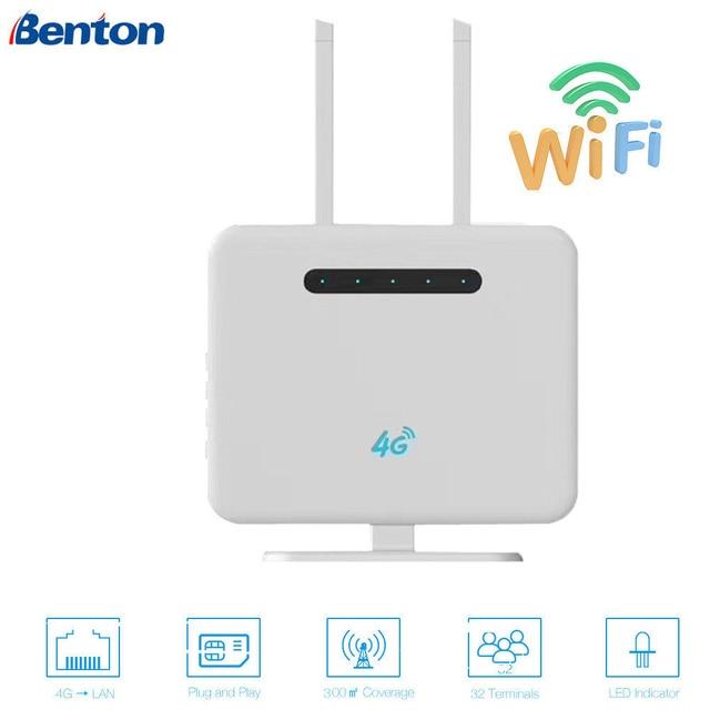300 Mbps 3G/4G WIFI yönlendirici 2.4 GHz kablosuz erişim noktası CPE WAN/LAN Portu ile SIM kart Yuvası 300 Mbps