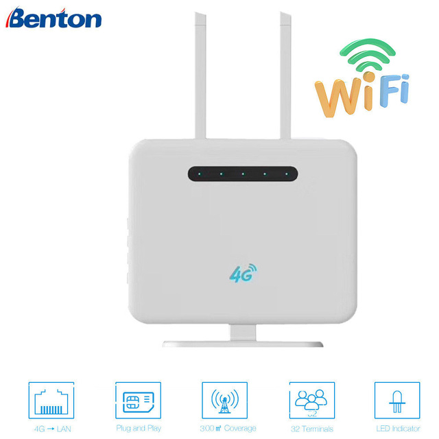 300Mbps 3G/4G Wifi Router 2.4GHz Wireless AP CPE WAN/LAN Port with SIM card Slot 300Mbps