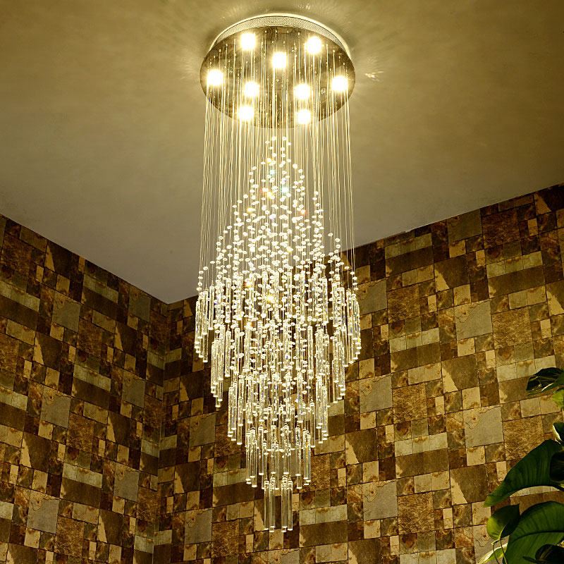 Long Dining Room Chandeliers: Crystal Drops For Chandeliers Stairwell Chandelier Chrome