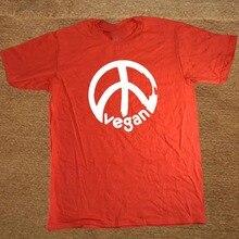 Vegan Peace Symbol men's t-shirt