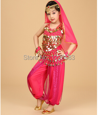Bollywood Dance Costumes Indian Belly Dance Dresses Bollywood Dance Clothes For Kids Child Girl