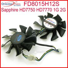 DC12V 0.32A 74mm VGA FD8015H12S Fan Untuk HD7750 Sapphire HD7770 1G 2G Kartu Grafis Cooling Fan 4Pin(China)