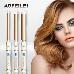 Image 2 - Ceramic Electric Hair Waves Curling Iron Digital AOFEILEI Professional Perfect Hair Curler Roller  Wand Styler Styling Tools