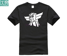 Goldorak UFO Robot Grendizer T-Shirt Costume Short Sleeves Purified Cotton Tees Crew Neck T Shirts