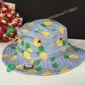 New Pineapple banana apple Watermelon fruit Printed Summer Bucket Hats For Women fisherman Sun Caps