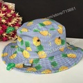 Nova Pineapple banana maçã fruta melancia impressa balde verão chapéus para mulheres pescador Sun Caps
