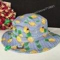 Nueva piña plátano manzana fruta de la sandía impresa de cubo sombreros de verano para mujeres pescador Sun Caps