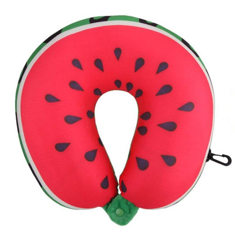 Fruit U Vormige Reizen Kussen Kussens Kussen Nanodeeltjes Nekkussen Auto Reizen Kussen Watermeloen Opruimingsprijs