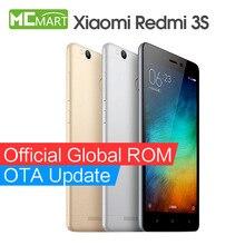 Xiaomi redmi 3 s pro primer redmi3s 4g fdd smartphone 5.0 pulgadas snapdragon 430 teléfonos de identificación de huellas dactilares